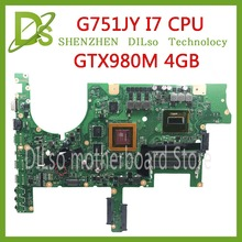 KEFU G751 материнская плата для ASUS G751J G751JY G751JT G751JM материнская плата для ноутбука с процессором I7-4720/I7-4750 GTX980M 4 Гб тест материнской платы