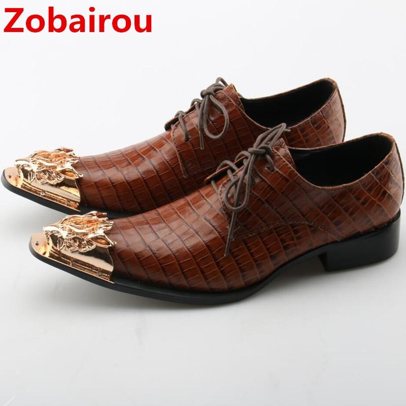 100% authentique f9965 fe81d € 78.75 36% de réduction|Hommes bout pointu chaussures habillées italie  luxe cocodrilo chaussures mocassins fête slip on oxford chaussures pour  hommes ...