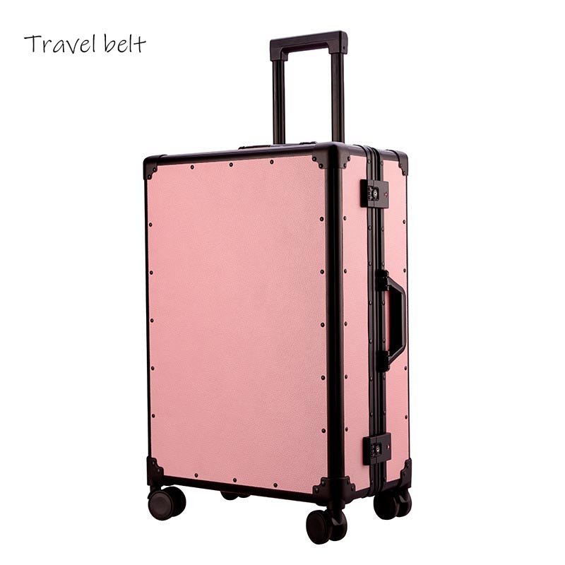 For ladies customizable 100% aluminum frame 20/24 inch size lovely Rolling Luggage Spinner brand Travel SuitcaseFor ladies customizable 100% aluminum frame 20/24 inch size lovely Rolling Luggage Spinner brand Travel Suitcase