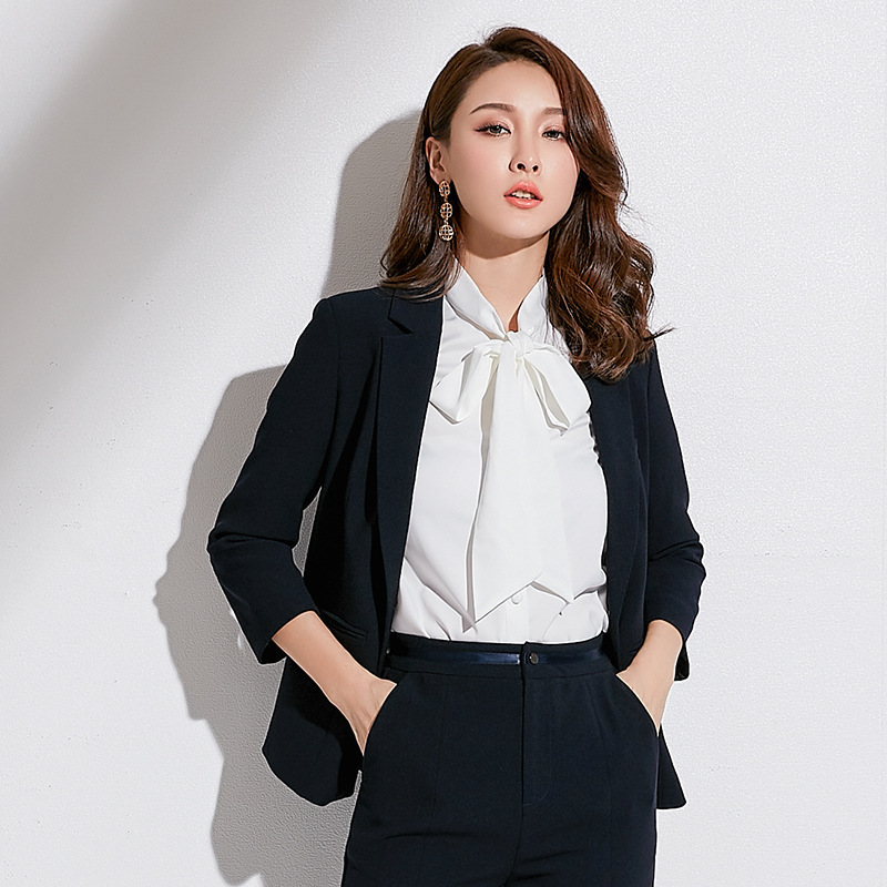 Spring 2019 New Brand Women's Wear Korean Edition Slim And Slim Women's Jacket Long Sleeve One Button Small Suit