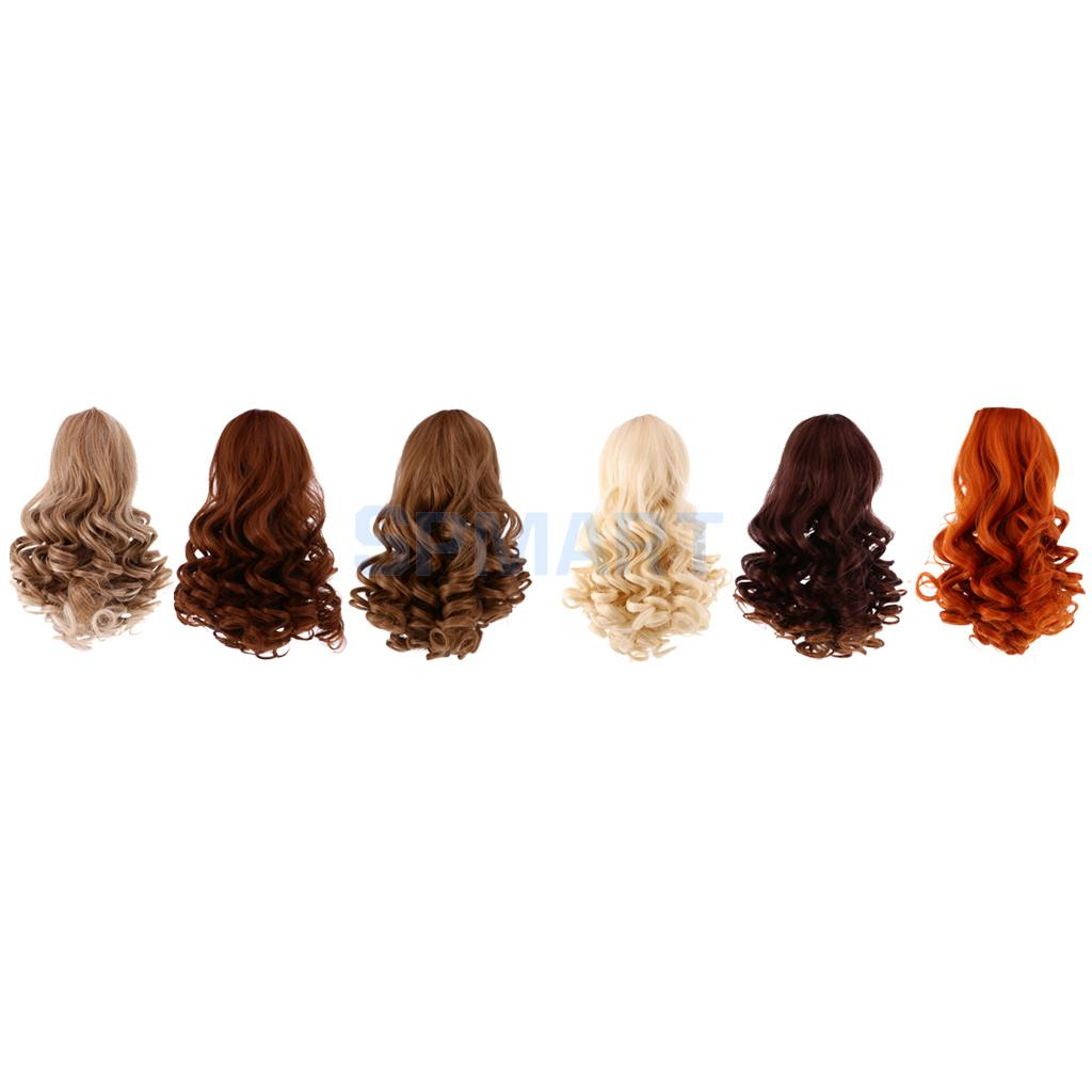 6 Pieces/Set Dolls Wavy Curly Hair Wig Simulation Scalp Wig for 18inch American Doll DIY Making used for oki b420 mb440 mb480 43979206 printer cartridge toner reset chip