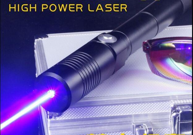 forte potencia militar 500000 m ponteiro laser azul 450nm 500 w lazer queima de vela fosforo