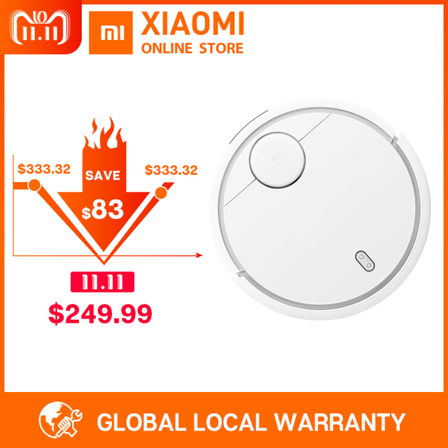 Global Version Xiaomi Mi Robot Vacuum Cleaner for Home Automatic Sweeping Smart Planned WIFI APP Control Charge Dust Cleaning