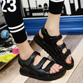 2017 Women Sandals Split Leather Flat Summer Shoes Woman Outdoor Platform Shoes Casual Beach Shoes Zapatos Mujer Sandalias