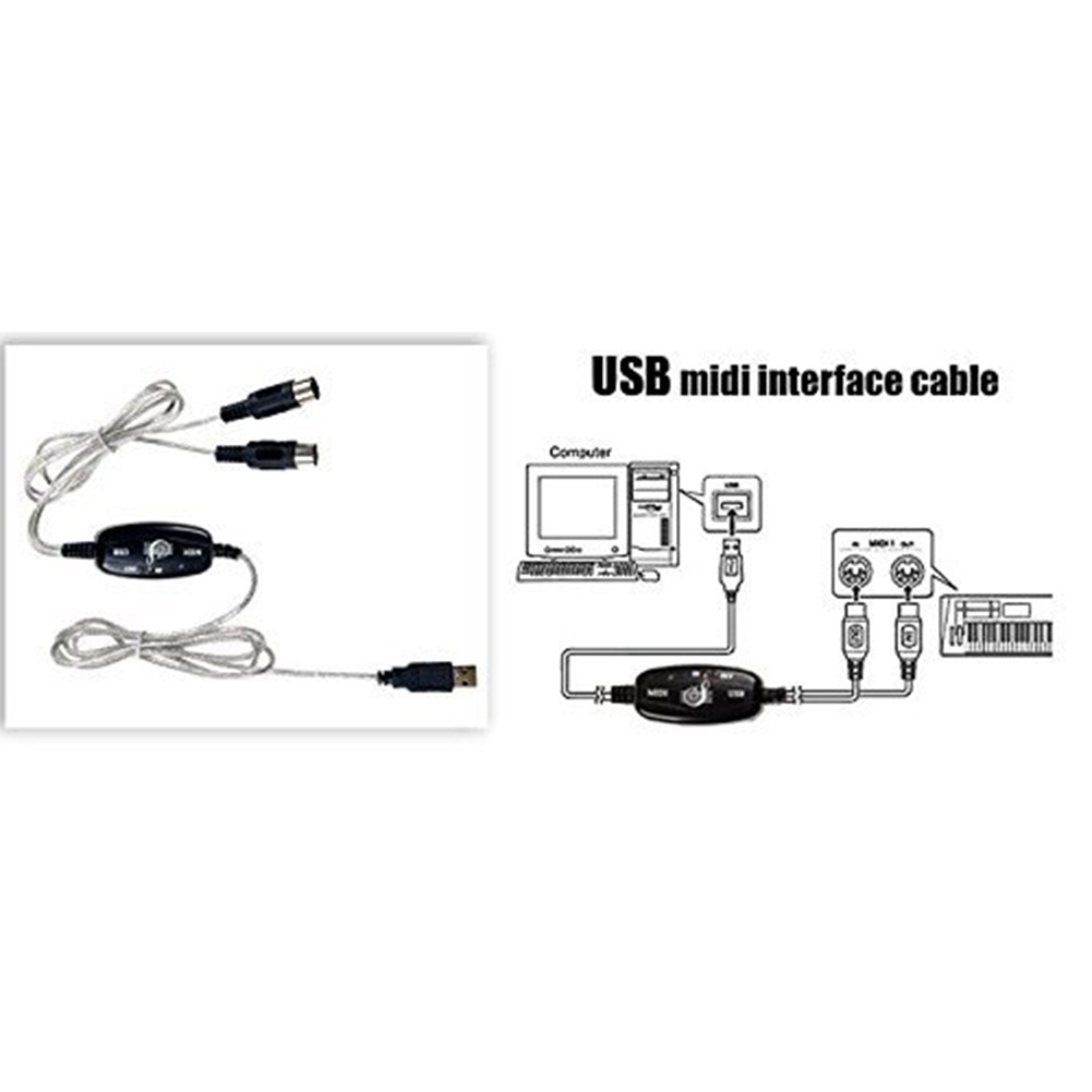 Buy New Hot Selling Keyboard To Pc Usb Midi Cable Wiring Diagram Converter Music Cord In Out Interface From