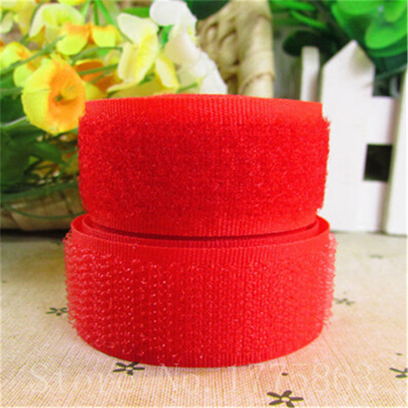5 Yards 20mm Width Red Sew on Hook and Loop Tape AA7307