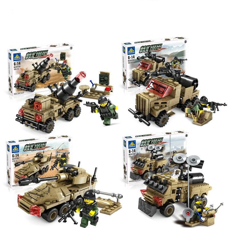 US $45 6 |4set Children's Enlightenment assembled model kits tanks  Tuskmodel wargame miniature Assembled blocks armoured military Chariot-in  Model