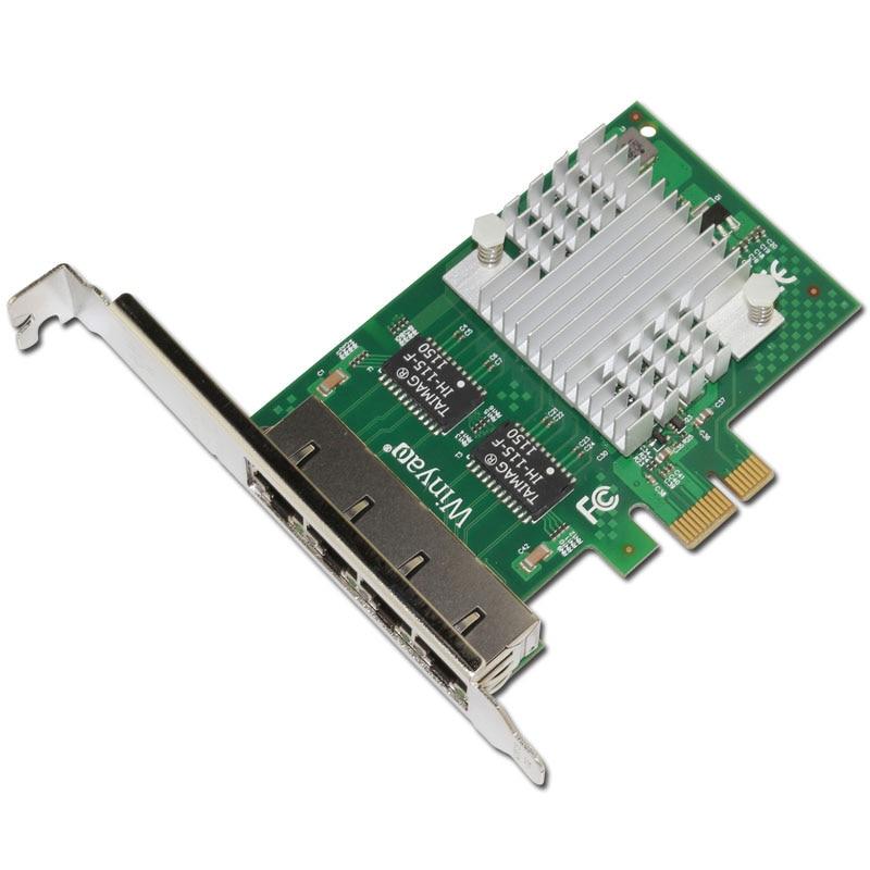 ФОТО PCIe x1 Quad port Gigabit Ethernet Adapter 10/100/1000M I340-T4 Server Card ESXI