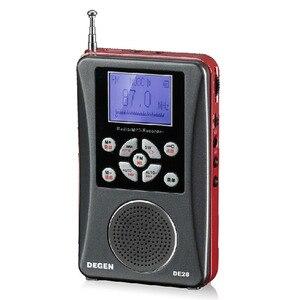 Image 1 - DEGEN DE 28 FM/MW/SW Sóng Ngắn Multiband Máy Thu Vô Tuyến Di Động Bỏ Túi Hỗ Trợ Đài LED Backlit máy In Y4219A