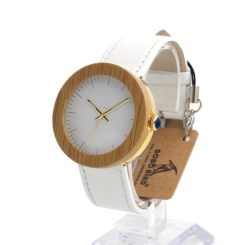 Women Bamboo Wood Watches Montre Femme Lady Quartz Wristwatch relogio feminino C-J27 (5)