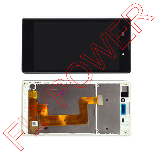 For Sony Xperia T3 m50w D5102 D5103 D5106 LCD Display with Touch Digitizer + Frame Assembly by free shipping, black