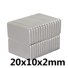 10pcs Super Strong Small 20*10*2mm Neodymium Magnets Rare Earth Powerful Magnet 20 x 10 x 2 mm N35 цена 2017