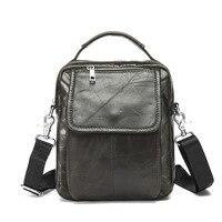 Genuine Leather Men Shoulder Bag Vintage Retro Casual Shoulder Crossbody Bag Men S First Layer Leather