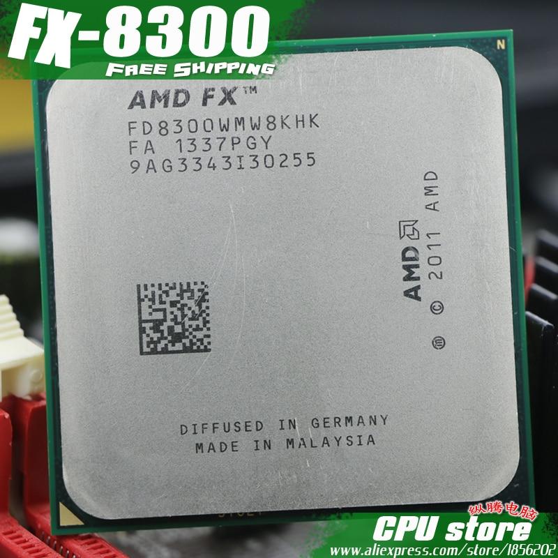 Процессор AMD FX 8300 AM3 + 3.3 ГГц/8 МБ/95 Вт восемь основных Процессор процессор FX последовательный штук fx-8300 fx8300 (работа 100% бесплатная доставка) распродажа 8120