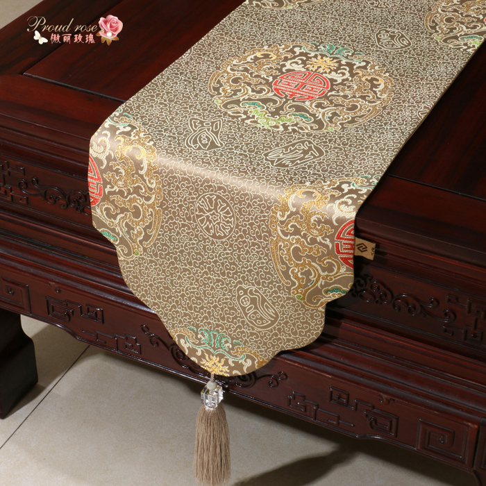 Proud Rose High-grade Chinese Style Decoration Table Runner Modern Luxury Table Runner Tablecloth Fashion Wedding Decoration
