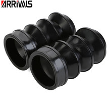 Motorcycle 39mm Rubber Motorcycle Fork Cover Gaiters Gators Boots For Harley Sportster Dyna FX XL 883