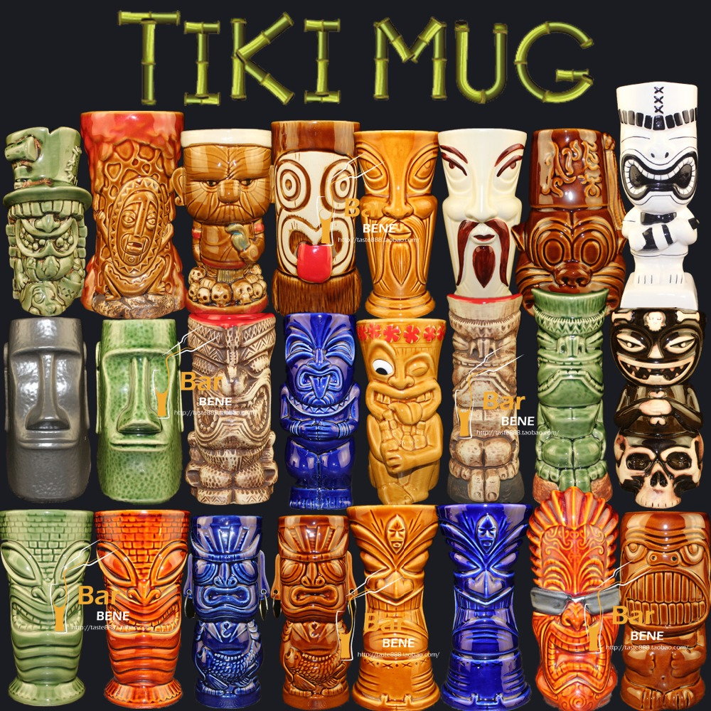 Tea Coffee Mugs Ceramic Tiki Mug Milk Mug Home Bar Decor