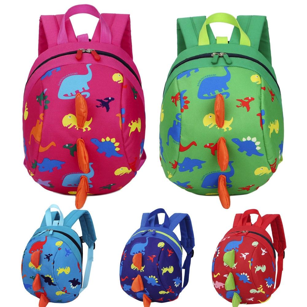 Baby Boys Girls Kids Dinosaur Pattern Animals Backpack Toddler School Bag Foldable Backpack Waterproof Backpack Folding Bag
