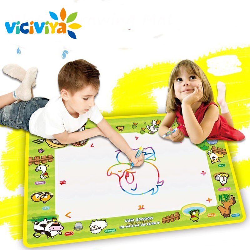 50x36cm Baby Kids Add Water with Magic Pen Doodle Painting Picture Water Drawing Play Mat in Drawing Toys Board Gift Christmas/