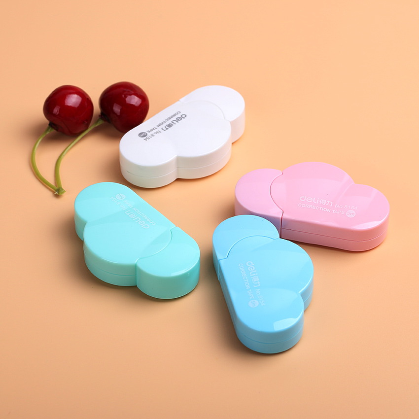 1PC Cute Kawaii Clouds Mini Small Correction Tape Korean Sweet Stationery Novelty Office Kids School Supplies 5mm x 5m deli sweet kawaii cloud shape mini correction tape korean stationery novelty office school supplies kids study tool
