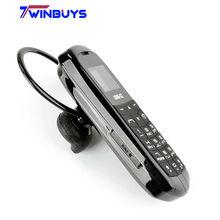 ארוך CZ J8 מיני bluetooth טלפון עם יד משלוח Bluetooth חייגן Bluetooth אוזניות פונקצית FM יחיד מיקרו כרטיס ה SIM 3 צבעים