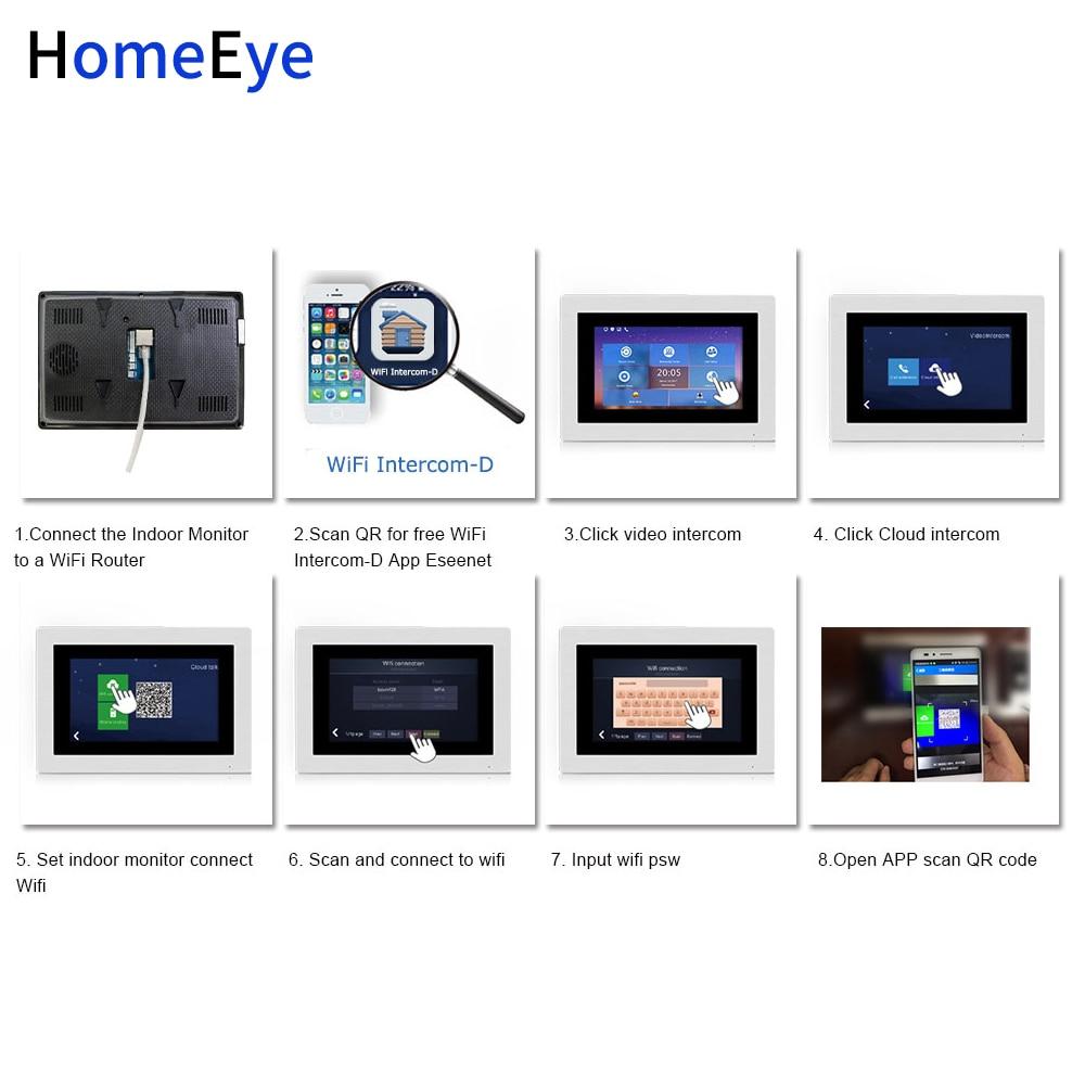 Купить с кэшбэком 7inch WiFi IP Video Door Phone Video Door Bell Home Access Control System Password/RFID Card + POE Switch+IP Camera iOS Android