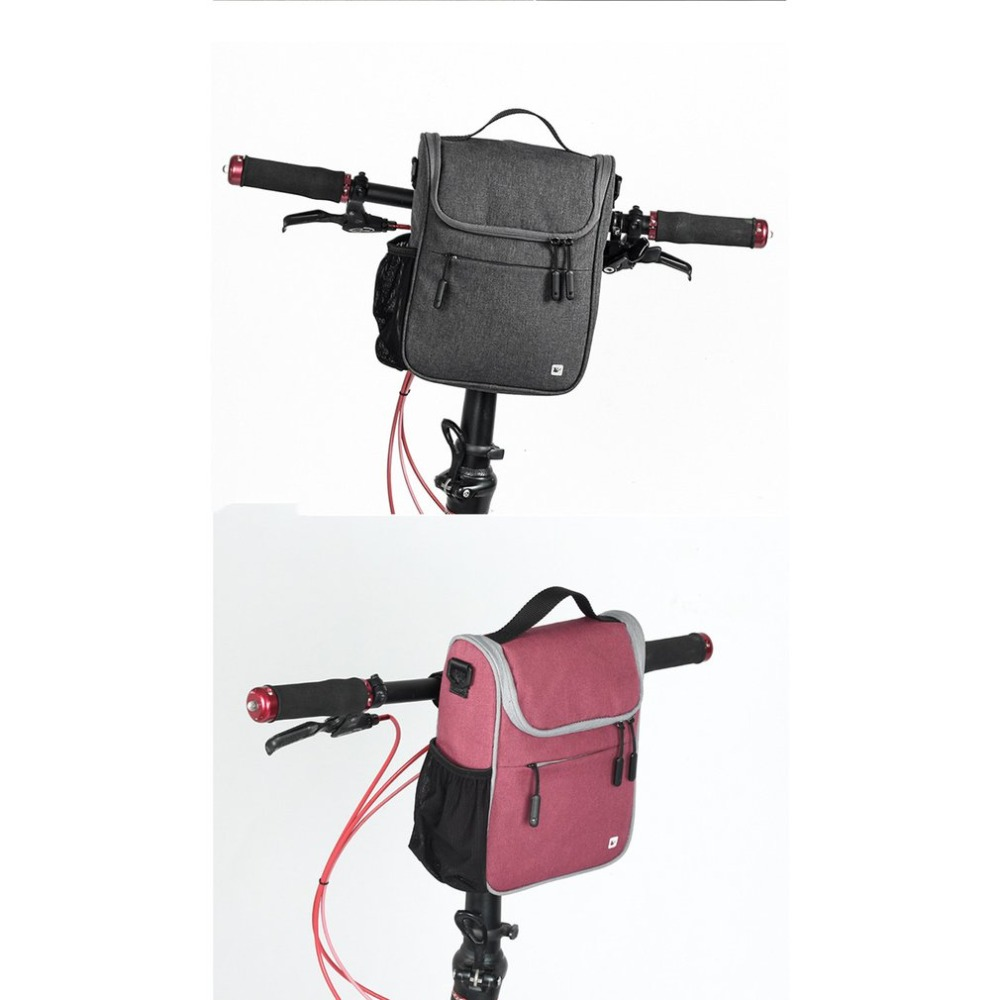 RHINOWALK Bike Bag Handlebar Front Tube Bag Bicycle Pocket Shoulder Backpack