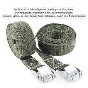 Image 4 - 2M Metal kilit kayışları bagaj toka kargo kayışları kravat aşağı kemer motosiklet kemer halat sapanlar güçlü otomatik aksesuarları