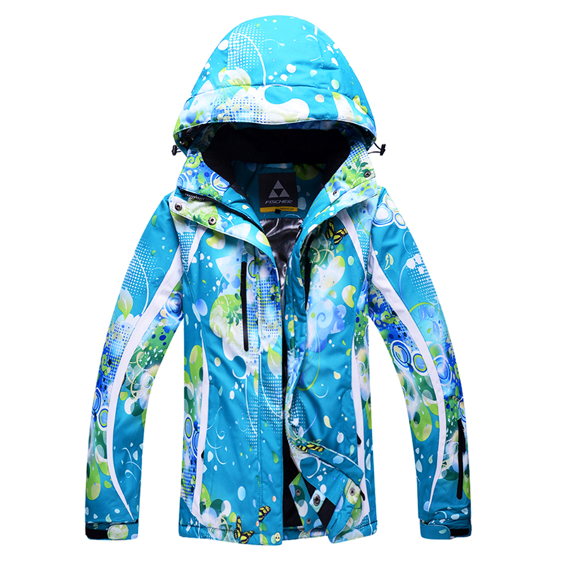Prix pour 2016 New Ski Snowboard femmes ski vêtements plus Épais Velours Femelle combinaison de ski Vent Chaud et Imperméable Ski Vestes