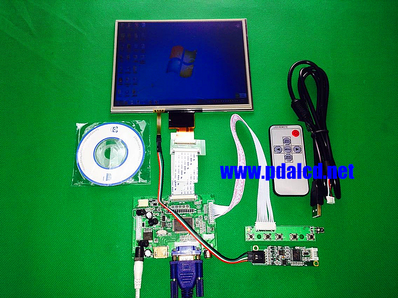 ФОТО HDMI/VGA/AV Control Driver Board +Touchscreen + 8