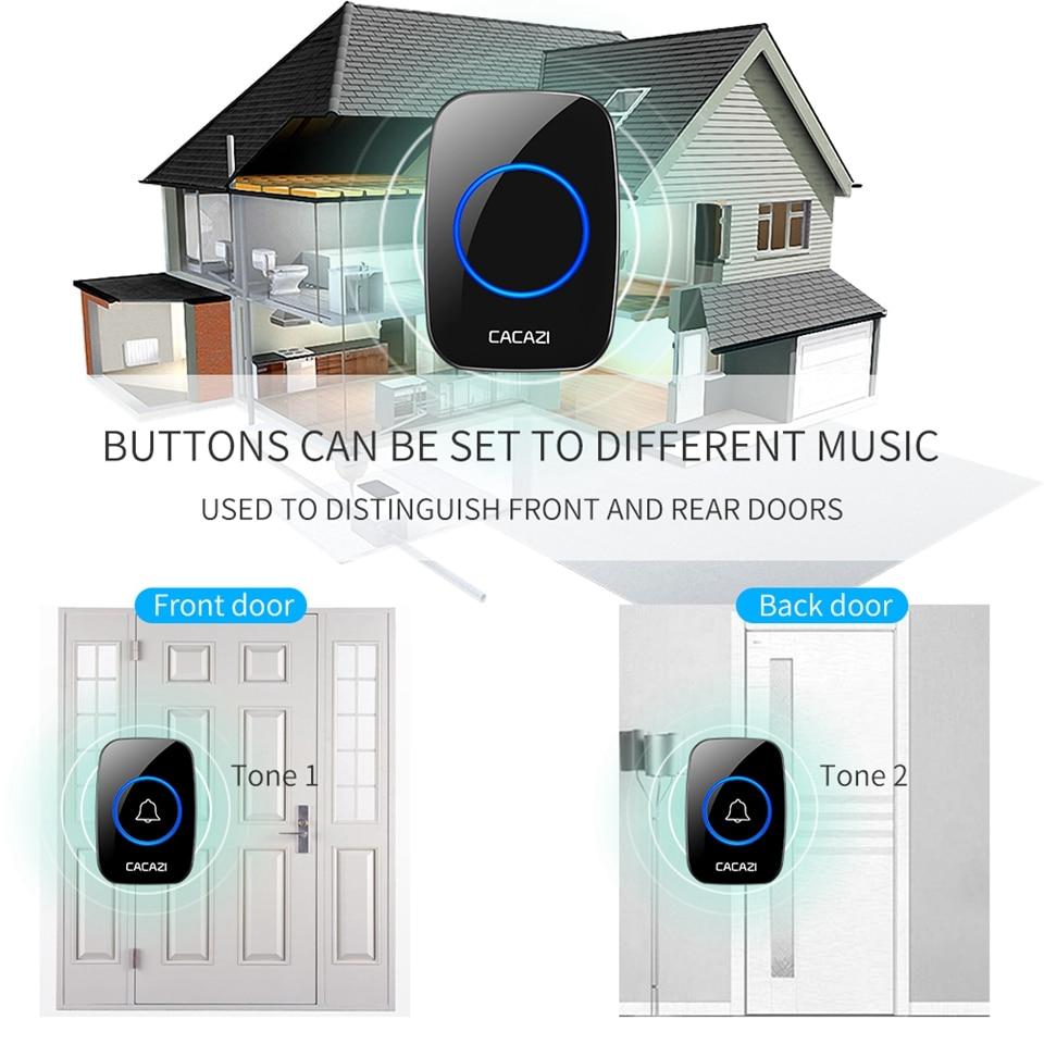 Door Intercom 1 Pcs Led Wireless Chime Door Bell Gate Alarm Doorbell & Wireles Remote Control 32 Tune Songs Drop Shipping C1 New Arrival