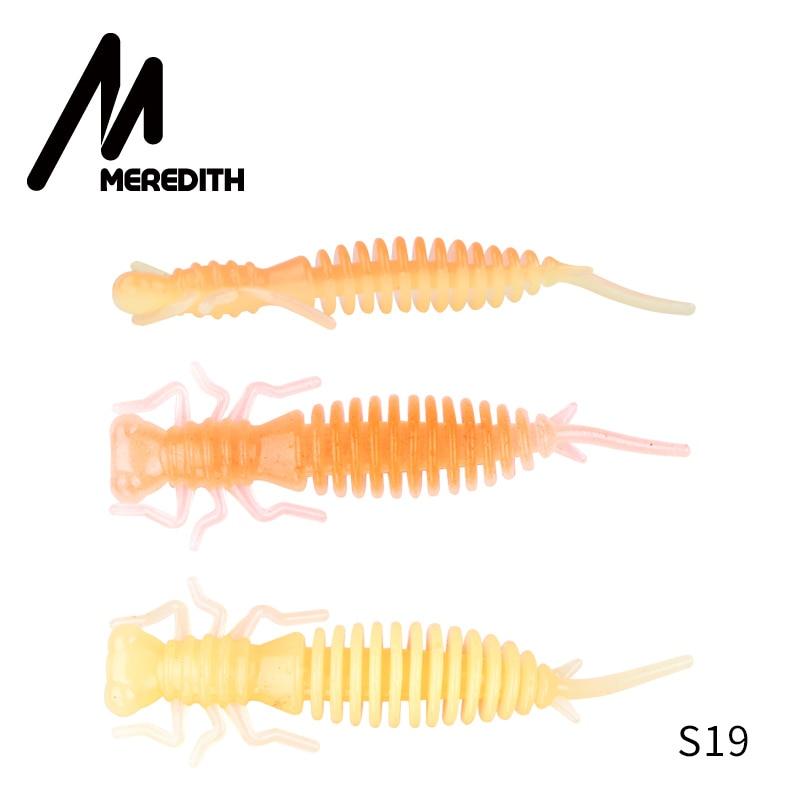 Мягкие приманки MEREDITH Larva, 50 мм, 62 мм, 85 мм, искусственные приманки, силиконовая приманка для ловли червя, приманка для ловли щуки, гольян, плавающая приманка, пластиковые приманки - Цвет: S19