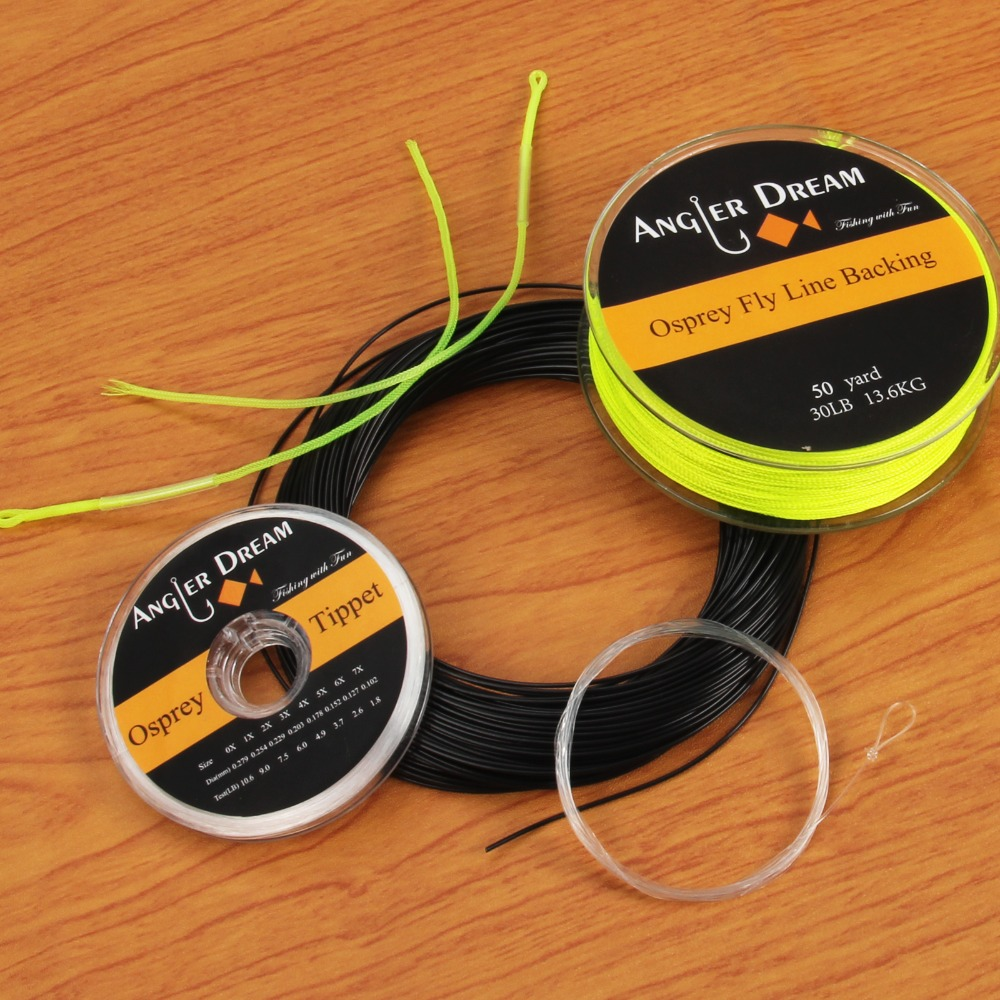 5 6 7 8 9wt 100ft fast sinking black fly fishing line for Dacron fishing line