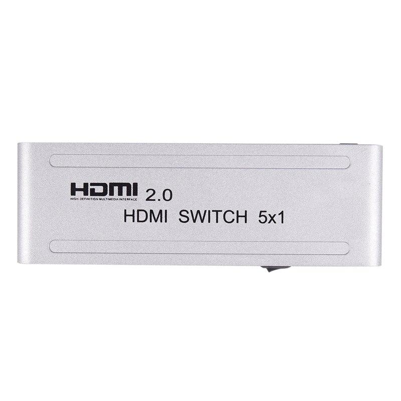 1080P Hdmi Switcher Hdmi 2.0 5X1 Switch Audio Video Converter 4Kx2K@60Hz Support Hdr Us Plug