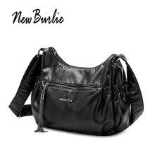 Nuevo Burlie casuales de las señoras bolsas de mensajero para mujeres, bolso de cuero suave de la PU bolso de hombro borla de lujo mujer bolsos saco principal