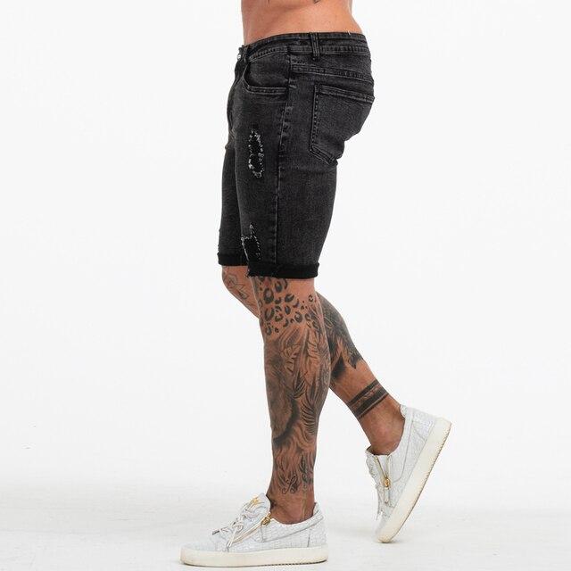 Skinny Strech Jeans Shorts  1