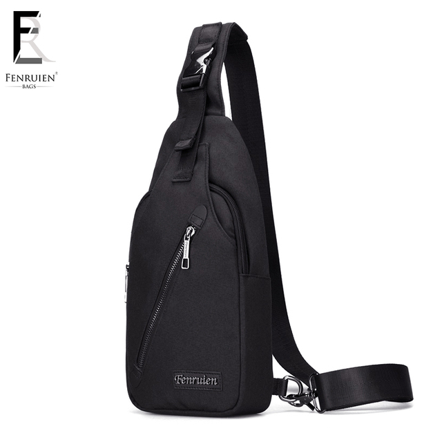 FRN New Male Chest Bag Fashion Leisure Waterproof Men Oxford Cloth Korea Style  Messenger Shoulder Bag 7ab344612cf9d