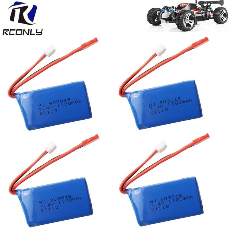 7.4 v 1100 mah 903048 Batterie Li-po Hélicoptère pour WLtoys A949 A959 A969 A979 V912 V913 V353 k929 v262 L959 T23 T55 F45 4 pcs/lot
