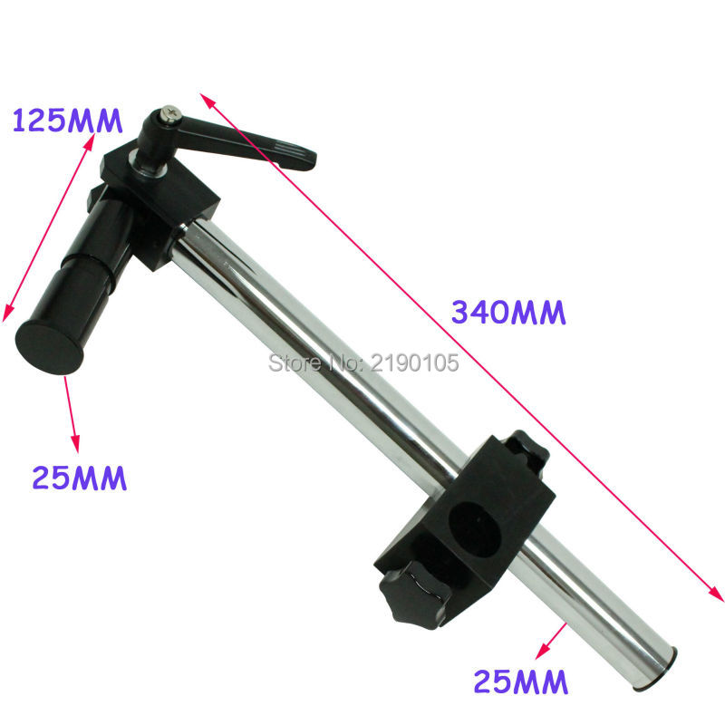 Dia Diameter 25mm Heavy Duty Multi-axis Adjustable Metal Arm Support for Video Industry Microscope Table Stand Part Holder factory direct sale mini industry microscope stand lcd digital microscope camera arm holder size 40mm