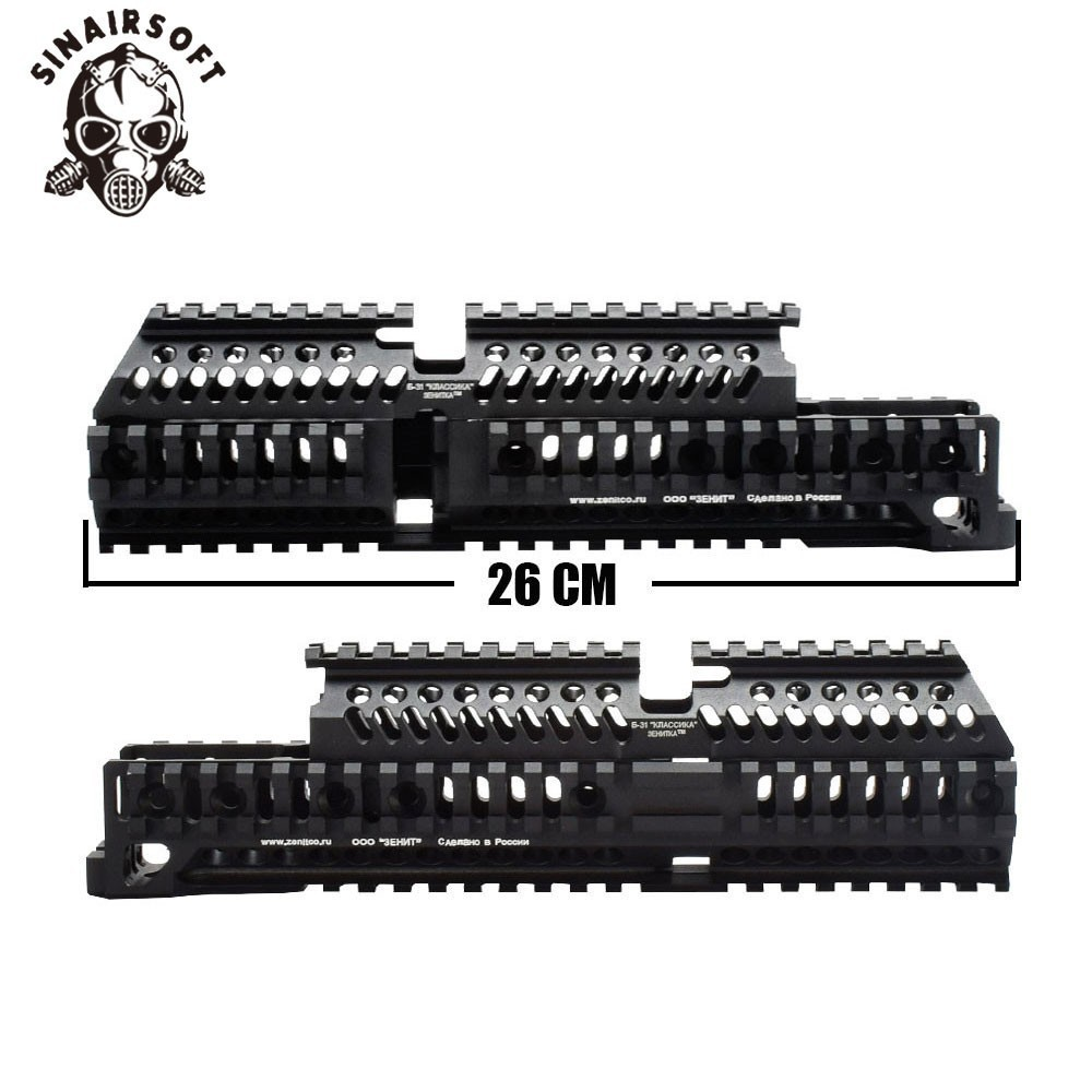 AK 47 Tactical Quad Rail Picatinny Handguard System CNC Aluminum Full Length Tactical  For AK AEG / GBB Rifles B30 B31