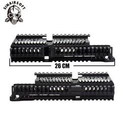 AK 47 Tactical Quad Rail Picatinny Handguard sistema CNC de aluminio de longitud completa táctico para AK AEG/GBB rifle B30 b31