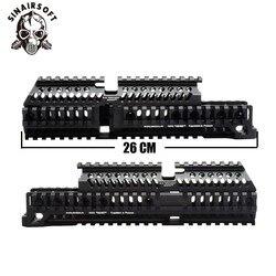 AK 47 Tactical Quad Rail Picatinny Handschutz System CNC Aluminium Volle Länge Taktische für AK AEG/GBB Gewehre B30 b31
