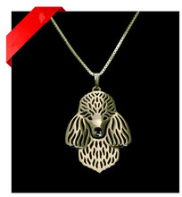 Gold & silver 1PCS Poodle Necklace Pendant Dog Jewelry for Pet Lovers Poodle Cute Chain
