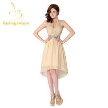 Bealegantom сексуальное короткое платье с лямкой на шее цвета