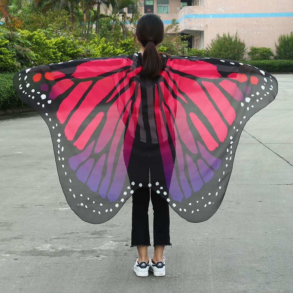 stylish loose Butterfly Wing Cape Scarf Women Christmas Gift Comfortable Butterfly Wing Cape Chiffon Pashmina Women Scarves