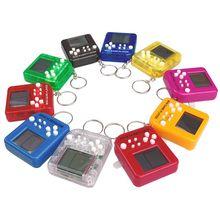 Портативная мини-игровая консоль тетрис брелок ЖК-портативные игровые плееры детские развивающие электронные игрушки антистрессовый брелок