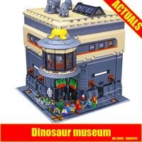 2017 New LEPIN 15015 5003pcs City The Dinosaur Museum Model Building Kits DIY Brick Toy Compatible