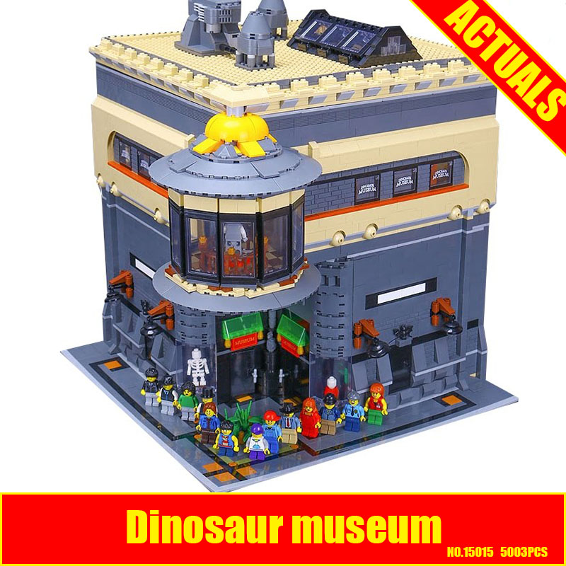 2017 New LEPIN 15015 5003pcs City The dinosaur museum Model Building Kits DIY Brick Toy Compatible Children day's Gift for girl lepin 1767 city town city square building blocks sets brick kid model kids toys for children marvel compatible bela diy gift toy