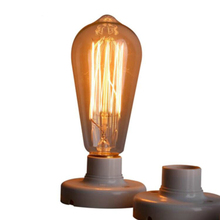 Купить с кэшбэком Edison Bulbs Retro Incandescent Vintage Lights Bulb tungsten filament lamps E27/220V/40W ST64 T45 lamp Bulbs For Pendant Lights