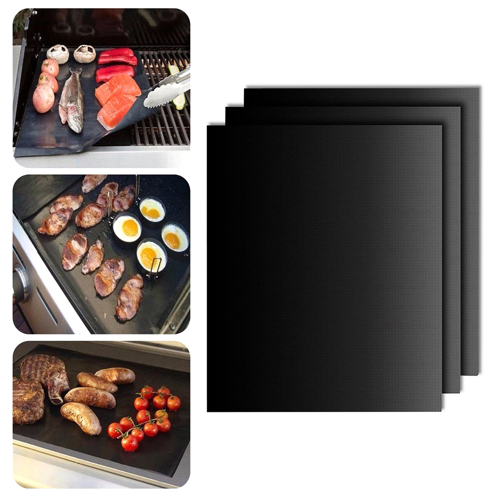 Reusable 33*40cm Heat Resistance Non Stick BBQ Grill Mats Cooking Barbecue Tool Cooking Tool BBQ